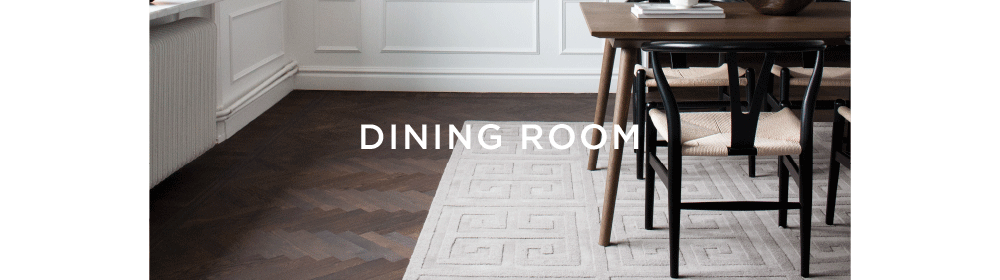 Layered styling advise for rugs in dining room