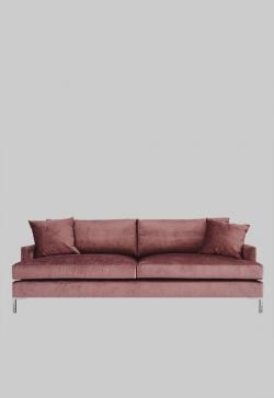 Rosa sofa fra Layered, Rosa møbler, Fløyelssofa