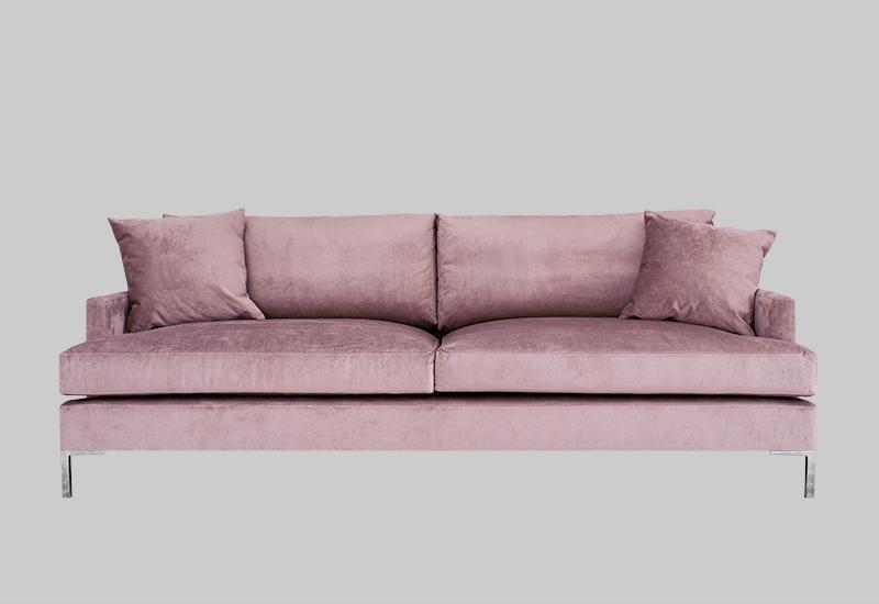 Elegant modern sammetssoffa 3-sist från Layered