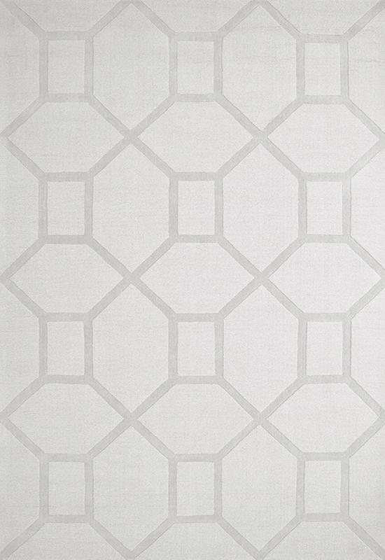 Mønstret teppe fra Layered, Hvit teppe