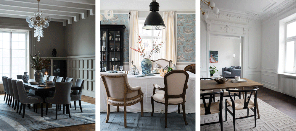 Layered styling advise for rugs in dining room and how to decorate with wool rugs