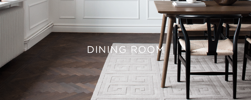 Layered styling advise for rugs in dining room and how to decorate