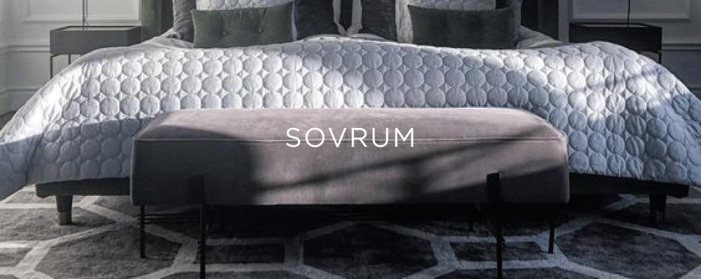 Elegant mönstrad grå viskosmatta i sovrum